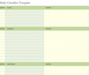 FREE Daily Checklist Template