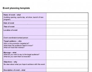 FREE Event Planning Checklist Template