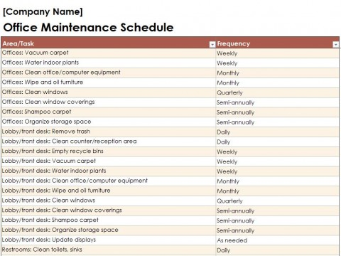 Free Building Maintenance Checklist