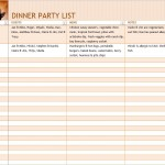 Free Dinner Party Checklist