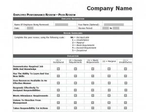 performance reviews templates