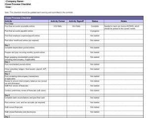 Accounting Book Closing Checklist