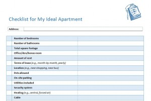 Apartment Hunting Checklist Template - TheApartment