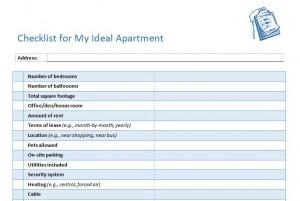 Apartment Checklist | Apartment Hunting Checklist
