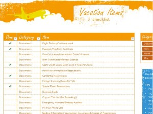 Free Beach Vacation Checklist
