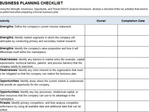 Business Disaster Recovery Checklist Incident Response Plan