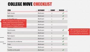 Free College Apartment Checklist