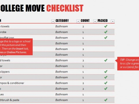Free College Apartment Checklist