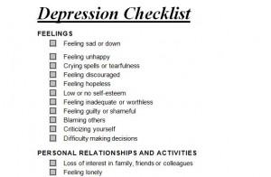 Free Depression Checklist