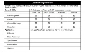 Free IT Job Skills Checklist