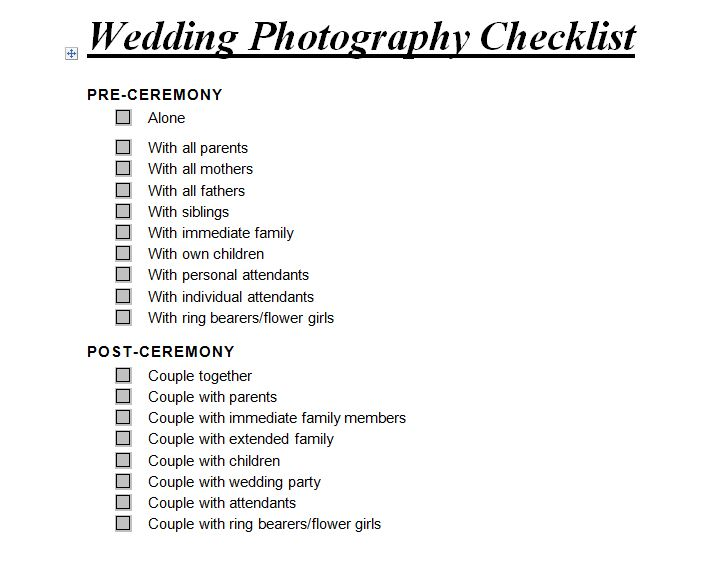 Wedding Planner Checklist Doc Ireland