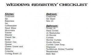 Wedding registry checklist wedding registry checklist printable free wedding registry checklist junglespirit Images