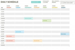 Daily Schedule Checklist Free