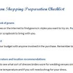 Wedding Gown Shopping Preparation Checklist