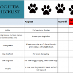 Dog Item Checklist