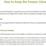 How to Keep the Freezer Clean Checklist