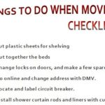 First Things to Do When Moving
