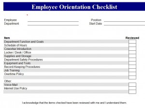 FREE New Employee Checklist