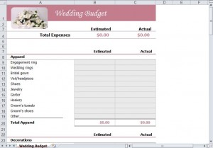FREE Wedding on a Budget Template