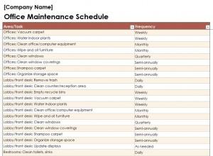 Free Building Maintenance Checklist