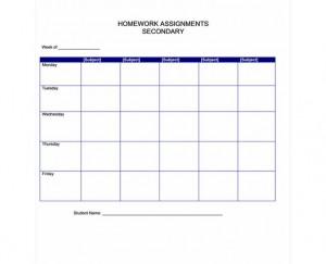 Free Homework Checklist