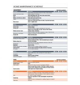 Free House Maintenance Checklist