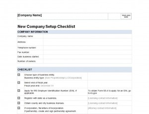 Free New Business Checklist