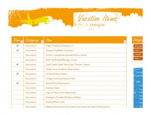 Free Vacation Travel Checklist