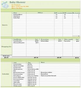 Free Baby Shower Checklist