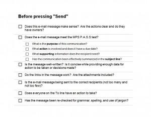 Free Email Checklist