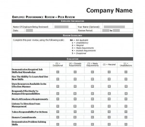 Free Employee Performance Review Checklist