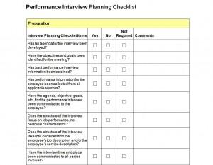 Interview Checklist Free