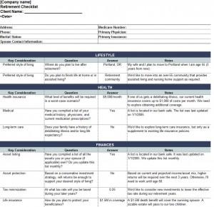 Free Retirement Planning Checklist