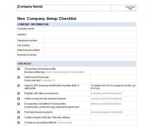 Free Checklist For Starting A Business