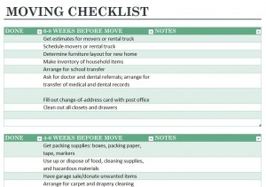 Free Moving Out Checklist