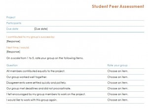 Free Peer Editing Checklist