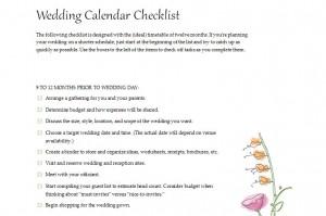 Free Planning a Wedding Checklist