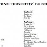 Free Wedding Registry Checklist