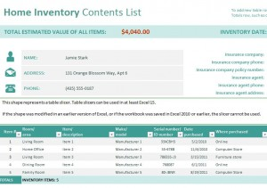 Free Household Inventory Checklist