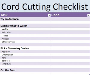 Cord-Cutting Template