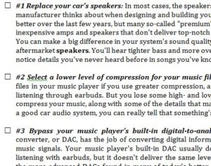 Best Sound Quality Checklist