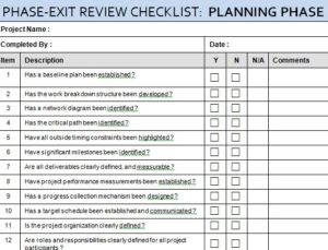 Project Planning Phase Review